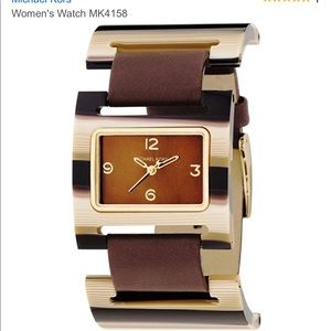 Michael Kors MK4158 Leather Acrylic Watch